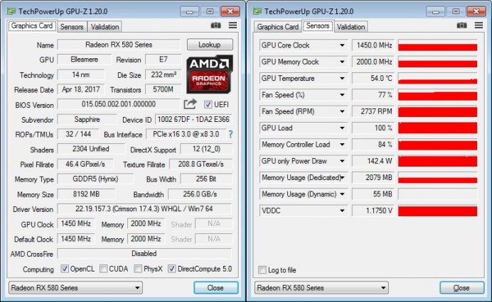 Криптомайнинг на Sapphire NITRO+ Radeon RX 580 Limited Edition