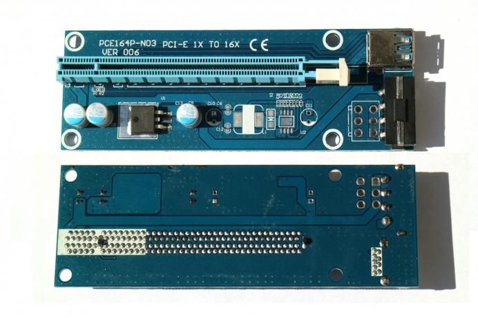 Райзер для видеокарты pci-e x1-x16 своими руками 38